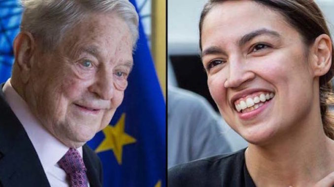 Soros behind the funding of Ocasio-Cortez' Green New Deal
