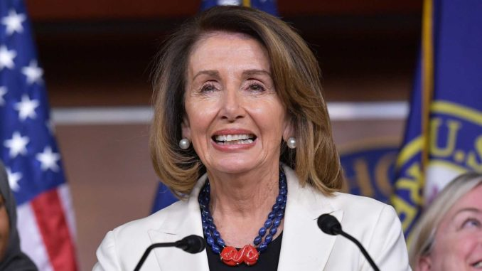 Trump says Nancy Pelosi is in bed with human traffickers