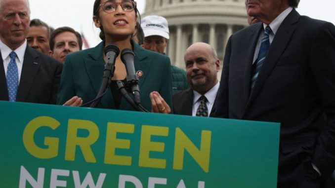 Ocasio-Cortez caught lying by saying New Green Deal on her own website is 'fake'