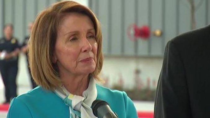 Nancy Pelosi suffers multiple convulsions during speech at the southern border