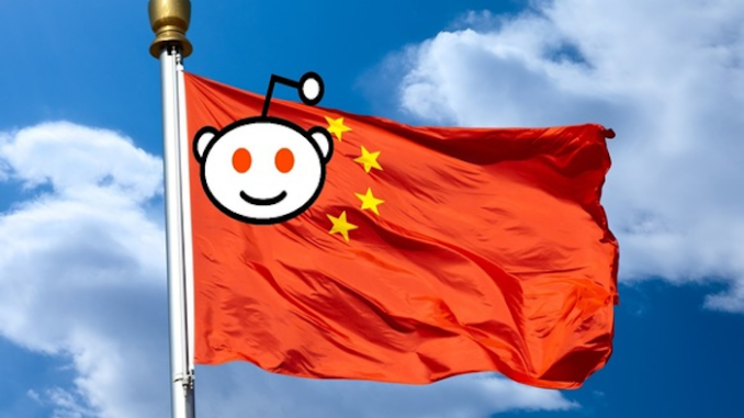 Chinese censorship company invests 150 million dollars into Reddit