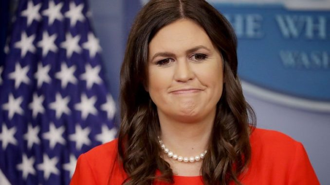 Sarah Sanders says God chose Trump to become President of the United States