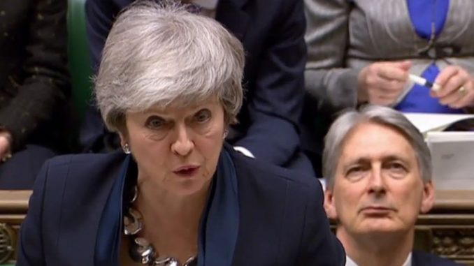 British Prime Minister Theresa May offers MPs a vote on whether to delay Brexit by another two years