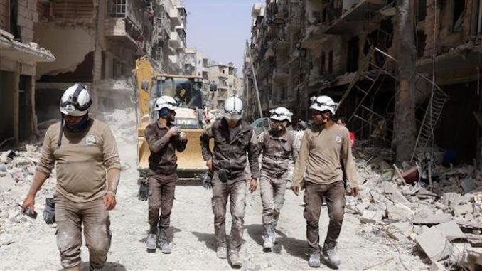 The White Helmets are planning to film a false flag chemical attack in Idlib, Russia warns