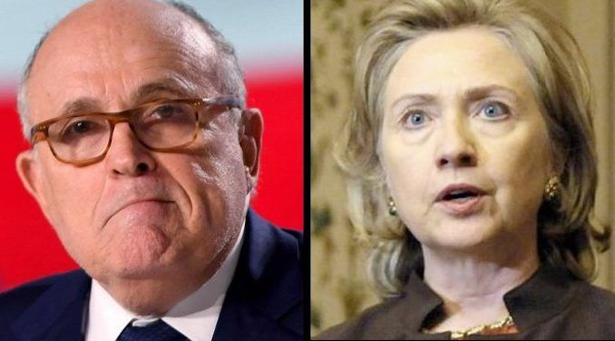 "Rudy Giuliani described the Clintons as ""America's number one crime family"" and warned the former secretary of state to ""get a lawyer."""