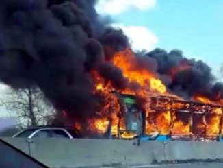 A Muslim migrant hijacked a school bus, restrained the children, doused the vehicle with fuel and then attempted to burn the children alive.