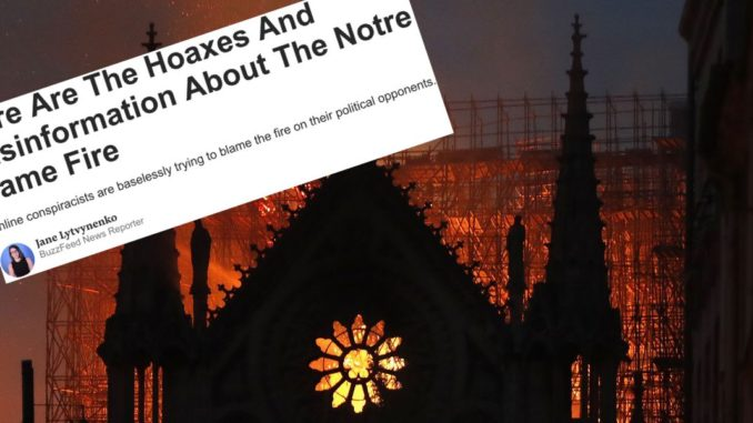 BuzzFeed caught lying about Notre Dame fire