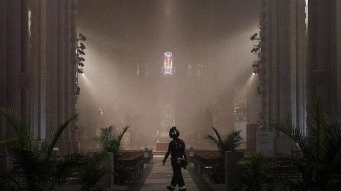 Basement fire in New York catholic cathedral forces parishioners to evacuate