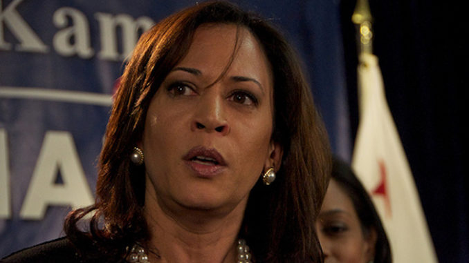 Kamala Harris says that as president she will give Congress 100 days to take action on gun control before she will take executive action.