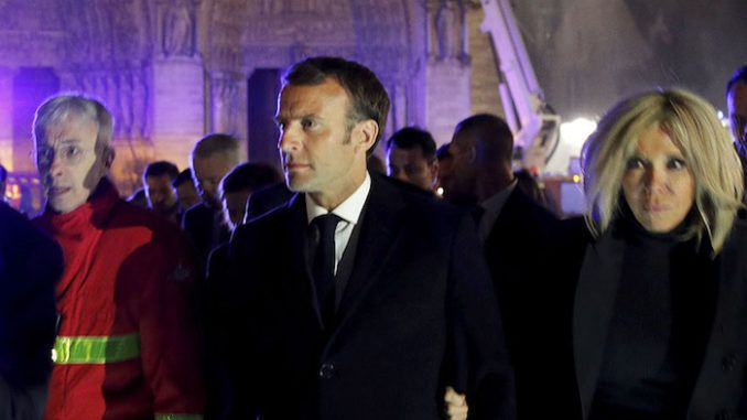 French President Macron said the Notre Dame rebuild should reflect the diversity of the nation and an architect has suggested a minaret.