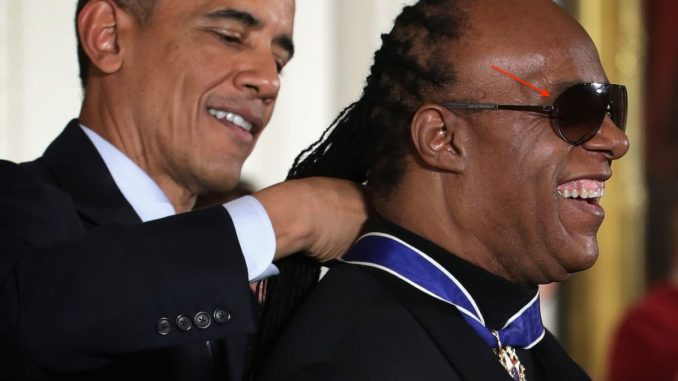 Stevie Wonder isn't really blind, conspiracy theorists claim