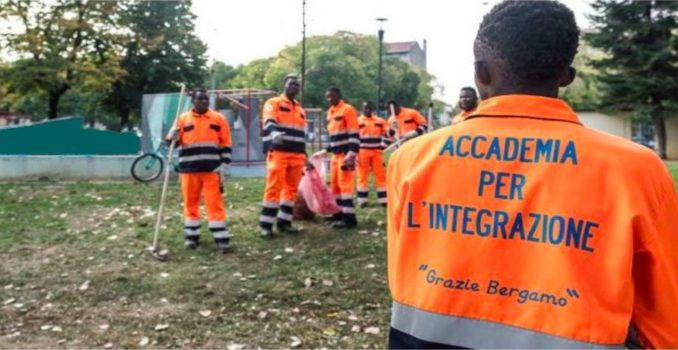 Italian bootcamp forces migrants to do community service and sing national anthem