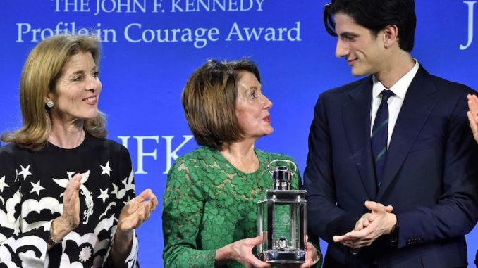 House Speaker Nancy Pelosi given JFK 'profile in courage' award