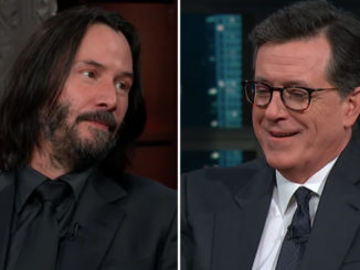Keanu Reeves' explanation of what happens after we die leaves Stephen Colbert speechless