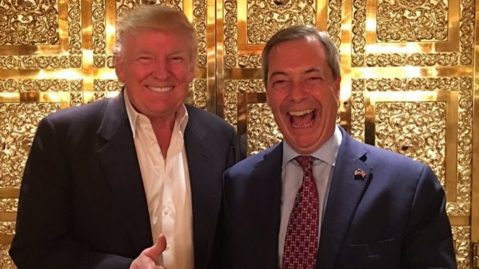 President Trump invites Nigel Farage to attend state banquet with Queen Elizabeth II