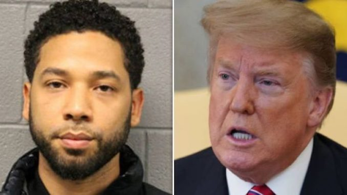 President Trump has slammed the Jussie Smollett fake MAGA attack as a 'hate crime' against his supporters