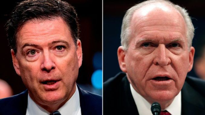 Comey blaims Brennan pushed junk dossier in IC report