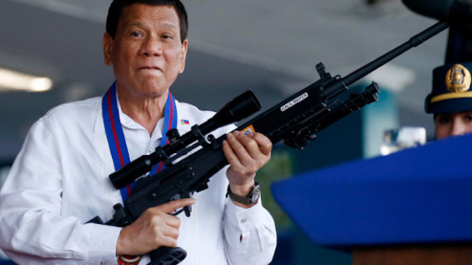 President Duterte vows to guns to members of the public to help fight crime