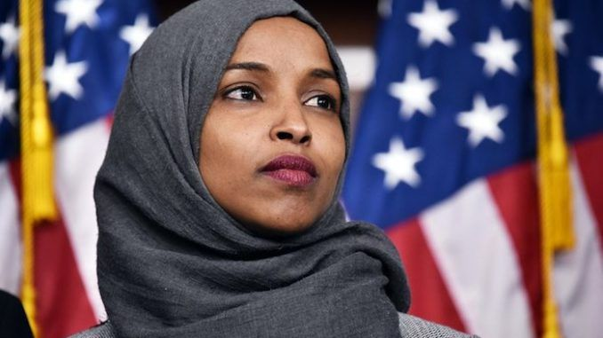 """Rep. Ilhan Omar told a rally on the grounds of the Capitol that the United States is """"not going to be the country of white people""""."""