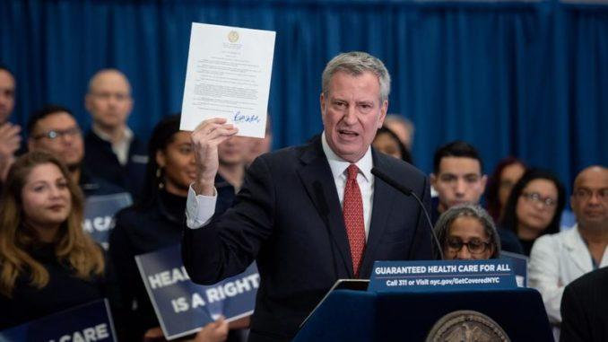 The city of New York has rolled out plans to give free healthcare to illegal immigrants and low-income New Yorkers courtesy of the American taxpayer.