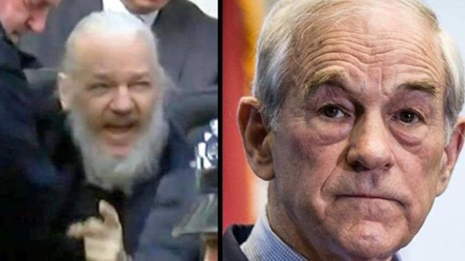 Ron Paul warns the Deep State are trying to murder Assange to keep him quiet