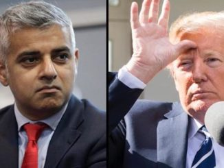 """President Donald Trump called London Mayor Sadiq Khan a """"stone cold loser"""" who is """"very dumb"""" minutes before landing at Stansted aiprort."""
