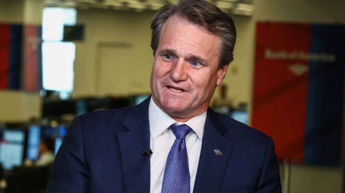 "Bank of America CEO Brian Moynihan embraced the digital cashless movement on Wednesday, saying his firm has ""more to gain than anybody"" from eliminating cash from society."