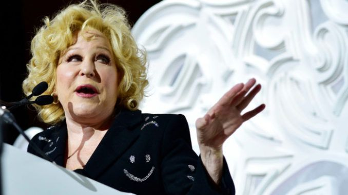 """President Donald Trump's """"uncontrollable"""" jealousy of Barack Obama will lead to """"thousands of premature deaths,"""" according to Bette Midler."""