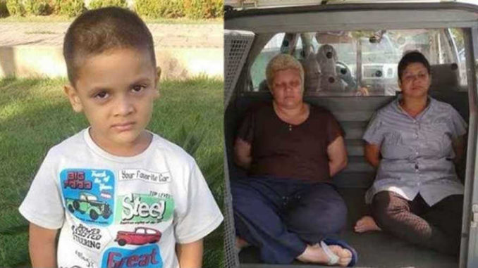 Lesbian couple dismember and kill son