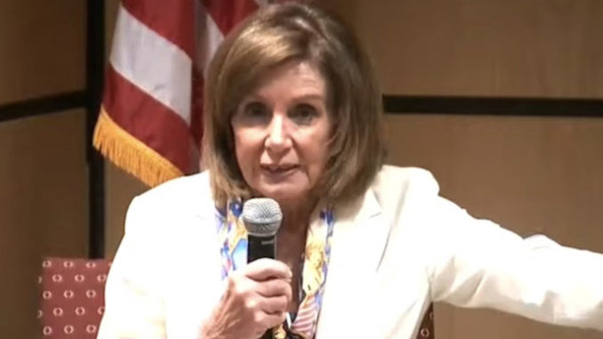 """Nancy Pelosi told an audience in New York that """"a violation of status is not a reason for deportation,"""" adding that there are over 10 million people who could face deportation because they are here illegally."""