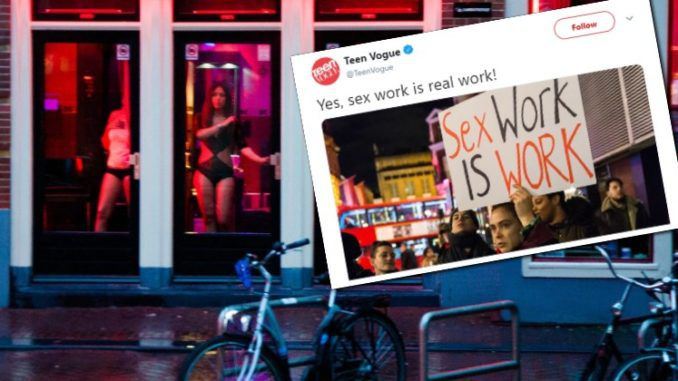 Teen Vogue promotes prostitution to young readers