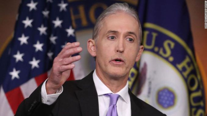 The FBI were giving different intelligence briefings to Trump than to Clinton, Trey Gowdy has revealed