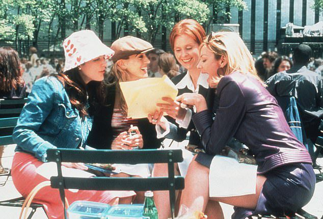 The TV series starred Sarah Jessica Parker as a writer in New York who famously chooses her independence over motherhood. Sarah Jessica Parker, Kristin Davis, Cynthia Nixon, Kim Cattrall are pictured above in the series