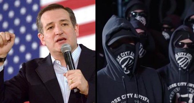 Senator Ted Cruz introduces legislation to designate Antifa a domestic terrorist organization