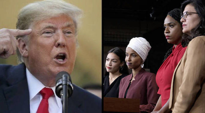 President Trump has tweeted out comments made by a Republican senator who called the 'squad' of four Democratic congresswomen 'wack jobs.'