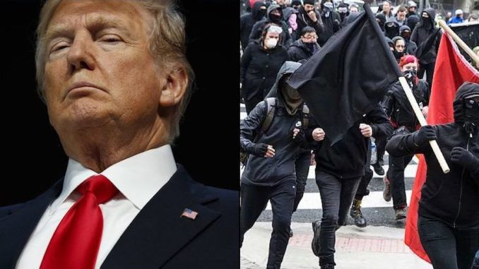 President Trump says consideration being given to label Antifa a domestic terrorist organization
