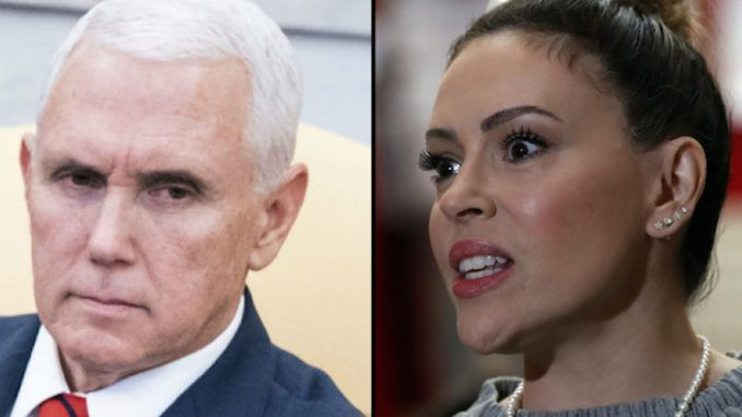 Alyssa Milano compares Mike Pence to Nazi leader Nazi leader Heinrich Himmler