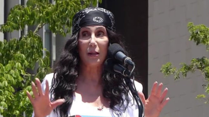 Cher says she is worried about four more years of Putin puppet President Trump