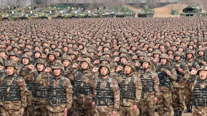 Armed forces in China prepare for massive international war exercises