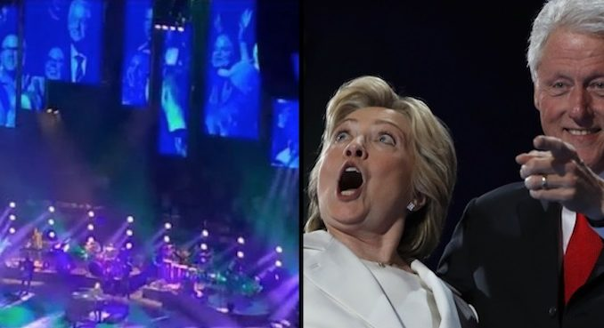 Bill and Hillary Clinton were booed at a Billy Joel concert in New York Thursday evening at Madison Square Garden.