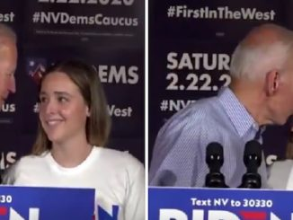 Creepy Joe Biden kisses granddaughter on the lips at Nevada rally