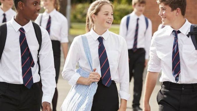 """Schoolgirls at Appleton Academy in Bradford, UK, have been ordered to wear """"gender neutral"""" trousers instead of skirts."""