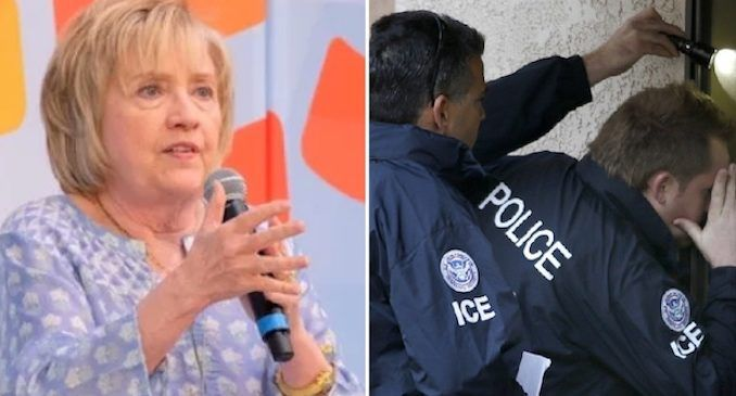 Hillary Clinton posts info in Spanish telling illegals how to handle themselves during ICE raids