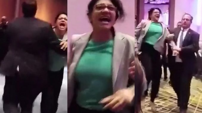 Image result for rashida tlaib being thrown out of trump event