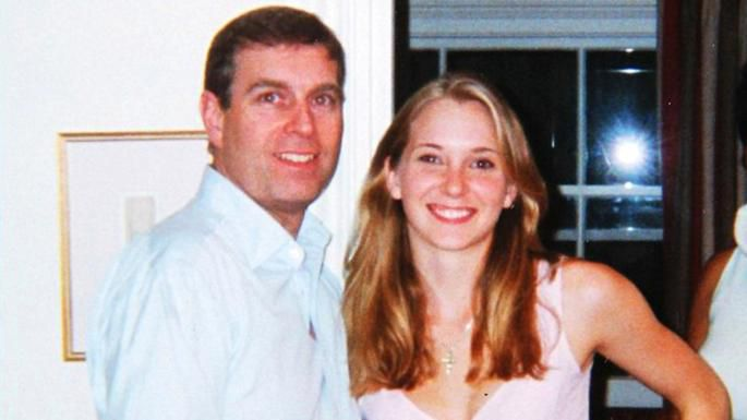 Prince Andrew with Virginia Roberts, then 17, in 2001. He denies they had sex.