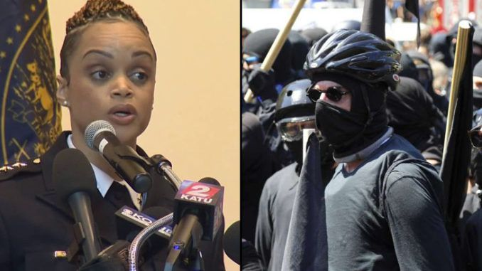 Portland police Chief Danielle Outlaw is calling for a series of new laws to curb the type of violence seen during last week's protests between Antifa and right-wing groups.