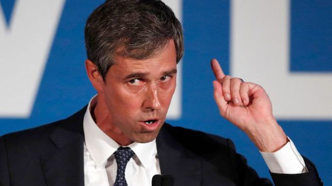 """Robert """"Beto"""" O'Rourke refused to disavow abortion at any stage of pregnancy during a speech Monday night, including the day before birth."""