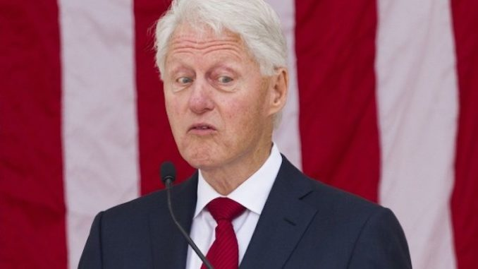 Doc courts claim Bill Clinton was seen with woman on each arm on Epstein's pedo island