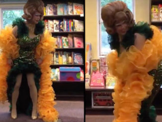 """A male drag performer in the UK was caught on camera teaching young children how to perform the """"twerk"""" dance."""