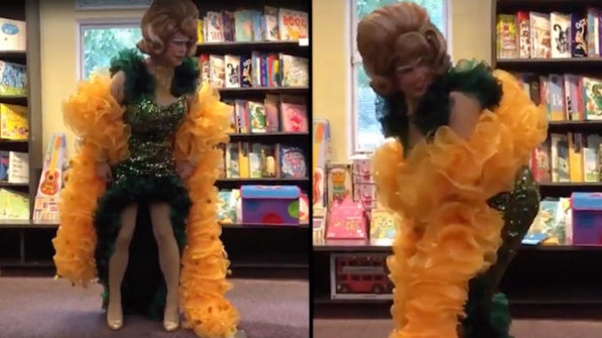 "A male drag performer in the UK was caught on camera teaching young children how to perform the ""twerk"" dance."